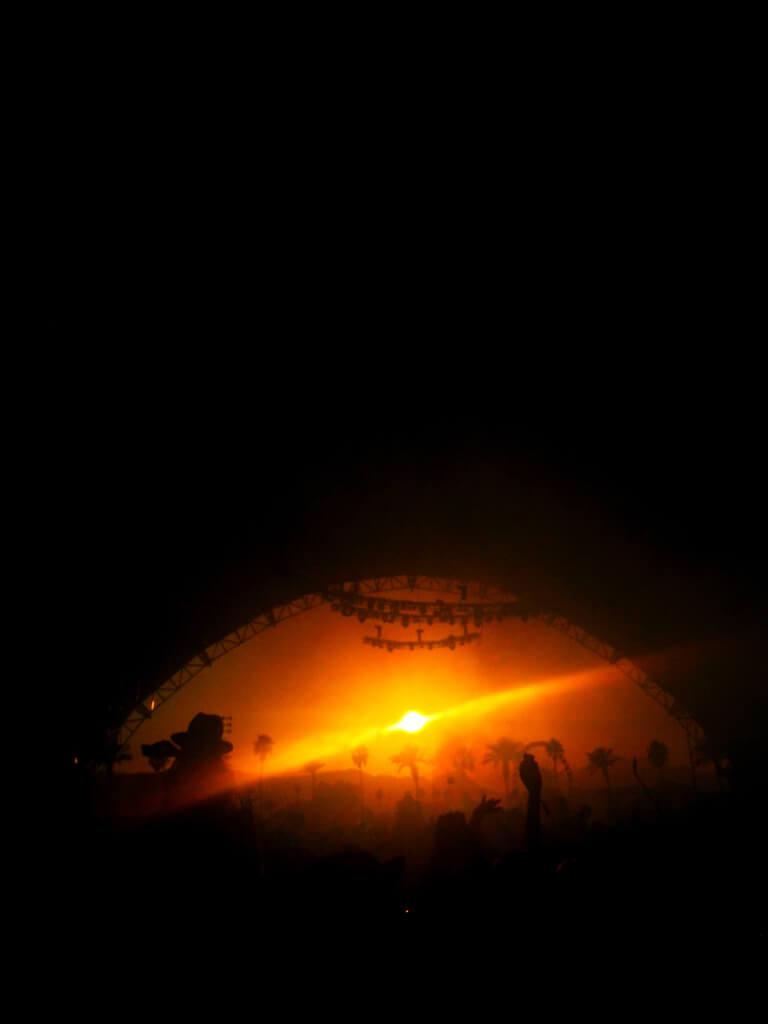 Coachella, sunset, festival