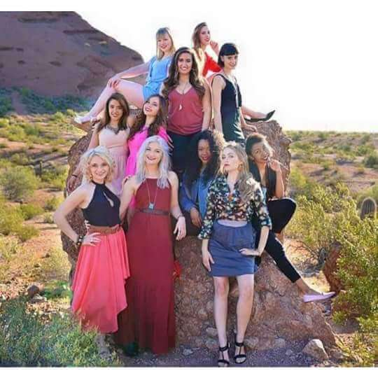 female fashion movement core members in the arizona fashion team