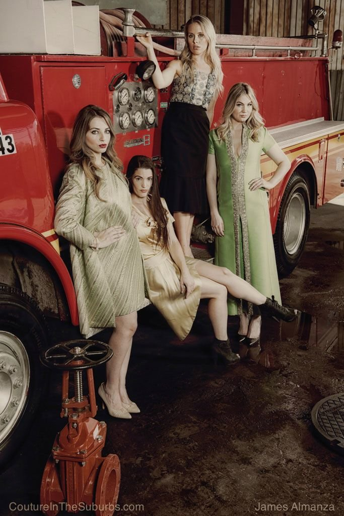 vintage firetruck photo shoot james almanza couture in the suburbs vintage by misty